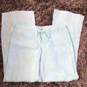 GAP size 4 mint linen pants